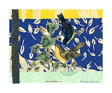 Sunrise Birds #17 by Ouida  Touchon (Monotype Print)
