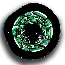 Murrine Incalmo: Bamboo by Paul Lockwood (Art Glass Wall Sculpture)
