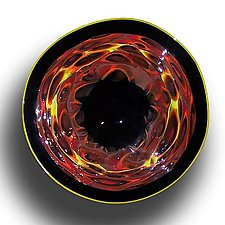 Murrine Incalmo: Fire by Paul Lockwood (Art Glass Wall Sculpture)