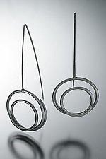 """Medium Circle in Circle Earrings"" by Donna D'Aquino (Silver Earrings)"