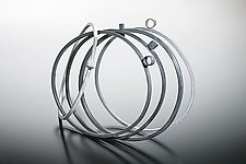 """Bangles with Circles and Squares"" by Donna D'Aquino (Silver Bangle)"