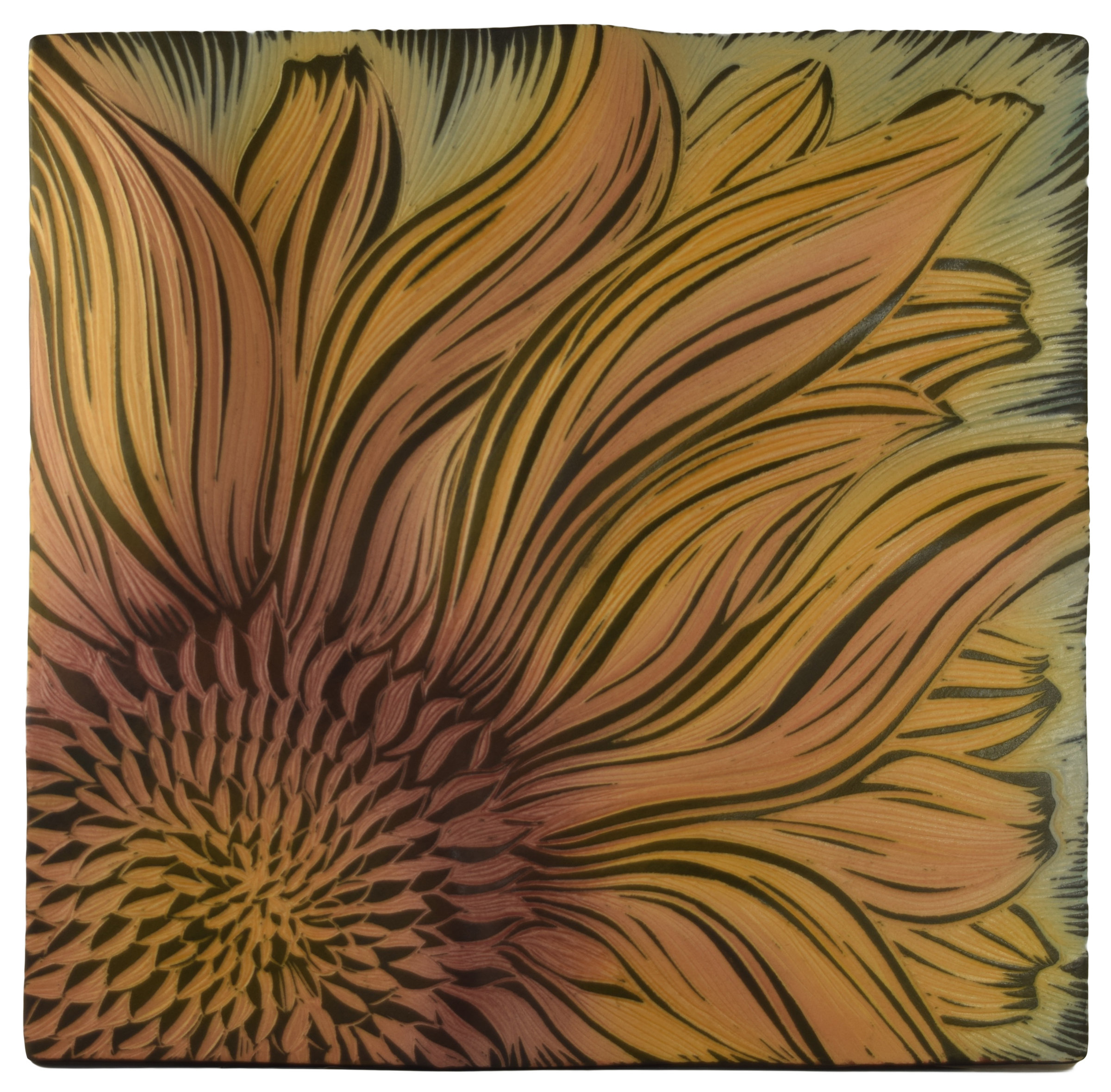 Artful Home Sunflower By Natalie Blake Ceramic Wall Sculpture Artful Home