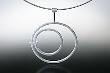 """Medium Circle in Circle Necklace"" by Donna D'Aquino (Silver Necklace)"
