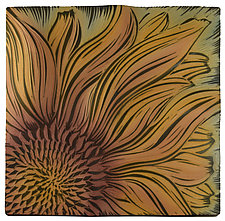 Sunflower by Natalie Blake (Ceramic Wall Sculpture)
