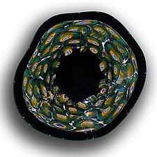 Murrine Incalmo: Peacock by Paul Lockwood (Art Glass Wall Sculpture)