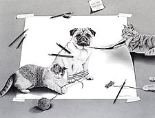 Purr-fect Pranksters by Robin Lauersdorf (Giclee Print)