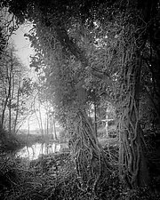 Flooded Grotto by Geoffrey Agrons (Black & White Photograph)