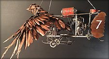 Hawk by Clint Hansen (Metal Sculpture)