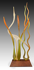 Dancing in the Marsh - Autumn by Warner Whitfield and Beatriz Kelemen (Art Glass Sculpture)