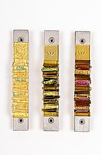 Warm Toned Mezuzah by Alicia Kelemen (Art Glass Mezuzah)