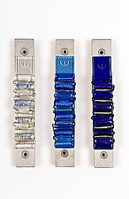 Cool Toned Mezuzah by Alicia Kelemen (Art Glass Mezuzah)