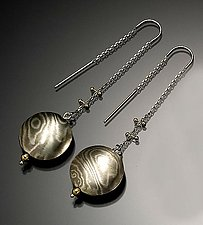 Luang Prabang Earrings in Arctic by Lisa Jane Grant (Gold & Silver Earrings)
