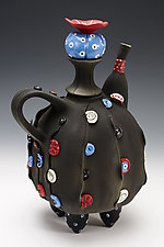 Button Down Tea by Laura Peery (Ceramic Teapot)