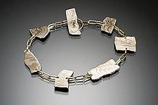 Kancamagus Bracelet in Arctic by Lisa Jane Grant (Gold & Silver Bracelet)