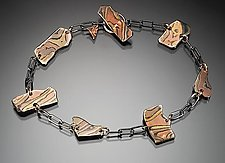 Kancamagus Bracelet in Sedona Nights by Lisa Jane Grant (Gold & Silver Bracelet)