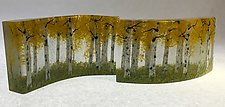Aspen Forest Cluster by Amanda Taylor (Art Glass Sculpture)