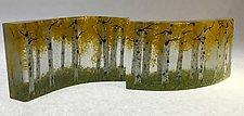 Aspen Forest Cluster by Amanda Taylor (Art Glass Sculpture)