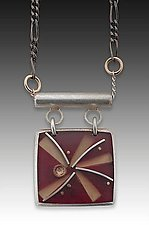 Pinwheel Necklace by Eileen Sutton (Silver & Resin Necklace)