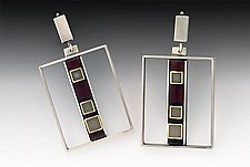 San Fran Earring by Eileen Sutton (Silver & Resin Earrings)