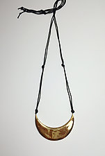 New Moon Pendant Necklace by Syra Gomez (Ceramic Necklace)