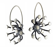 Burst Earrings by Theresa Carson (Silver Earrings)