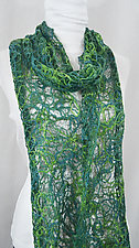 Threadwork Scarf 609 by Andi Shannon  (Stitched Scarf)