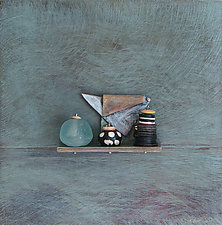 Bronze Still Life 58 by Jack McLean and Alice McLean (Metal Wall Sculpture)