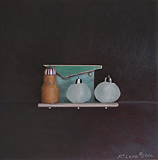 Bronze Still Life 60 by Jack McLean and Alice McLean (Metal Wall Sculpture)