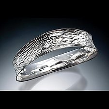 Waveform Bangle by Stephen LeBlanc (Silver Bangle)