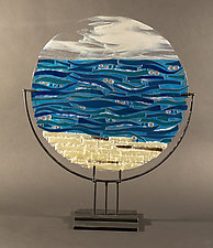 Serenity by Vicky Kokolski and Meg Branzetti (Art Glass Sculpture)