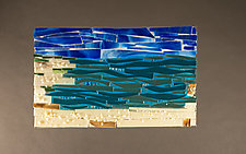 Serenity I by Vicky Kokolski and Meg Branzetti (Art Glass Wall Sculpture)