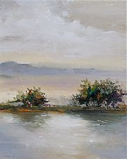 Shadows on the Lake by Karen  Hale (Acrylic Painting)