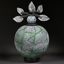 Emerald Evolution Novi Zivot Series (New Life) by Eric Bladholm (Art Glass Vessel)