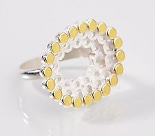 Oval Stacked Ring with 22k by Elisa Bongfeldt (Gold & Silver Ring)
