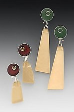 Ptp Earring by Eileen Sutton (Silver & Resin Earrings)