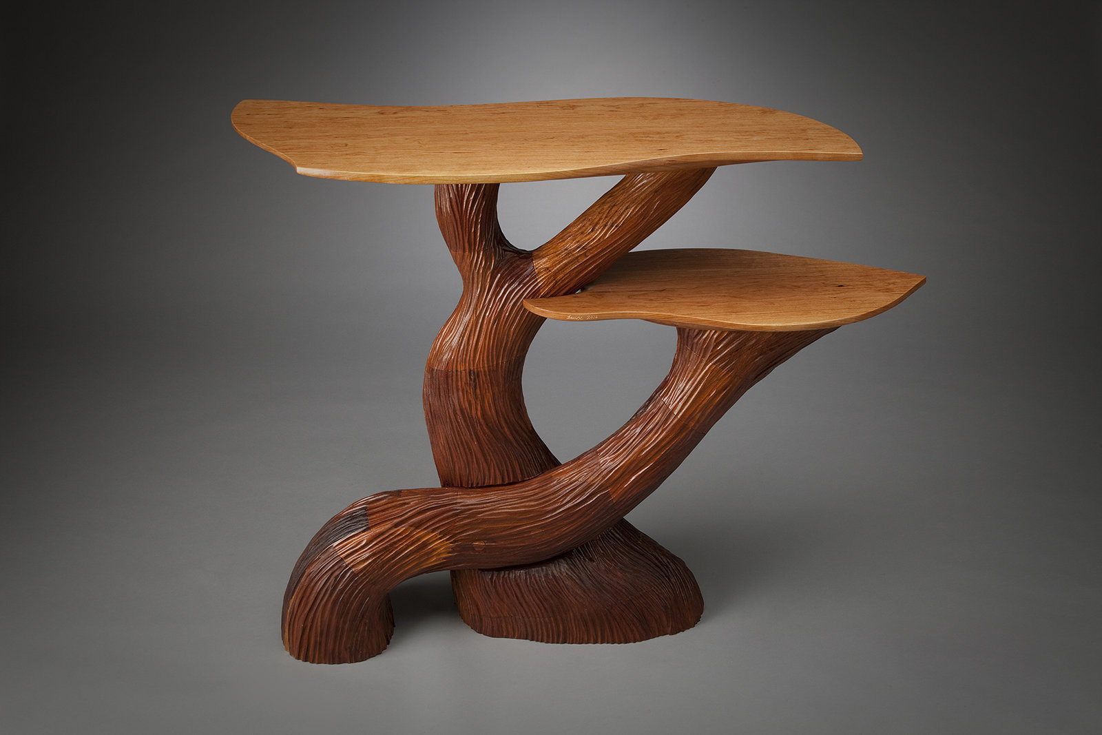 Two Level Hall Table By Aaron Laux Wood Console Artful Home