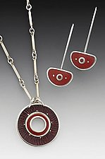 Robin Necklace and Chinese Earring by Eileen Sutton (Silver & Resin Jewelry)