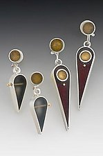 Teardrop Earrings by Eileen Sutton (Silver & Resin Earrings)