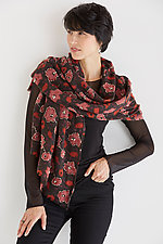 Flower & Wool Scarf by Maliparmi  (Wool Scarf)
