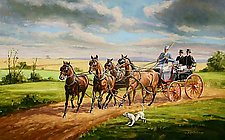 Four and Hound by Werner Rentsch (Oil Painting)