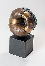 Bound, Variation on a Theme 2 by Jan Hoy (Bronze & Ceramic Sculpture)