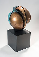 Bound, Variation on a Theme 3 by Jan Hoy (Bronze & Ceramic Sculpture)