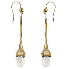 Willow Crystal Earrings by Julie Cohn (Bronze & Stone Earrings)