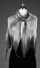 Gray & White Shawl by Min Chiu and Sharon Wang (Silk Wrap)