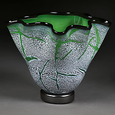 Evening Emerald by Eric Bladholm (Art Glass Bowl)