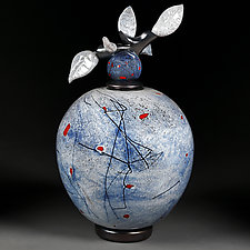 Vechir Syniy (Evening Blue) by Eric Bladholm (Art Glass Vessel)