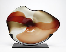 Cherry Cradle by Janet Nicholson and Rick Nicholson (Art Glass Sculpture)