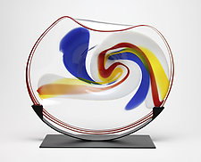 Primary Cradle by Janet Nicholson and Rick Nicholson (Art Glass Sculpture)