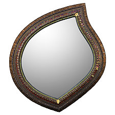Cinnamon Leaf Mirror by Angie Heinrich (Mosaic Mirror)