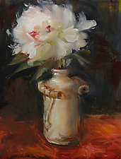 Tuxedo Peony by Leslie Dyas (Oil Painting)